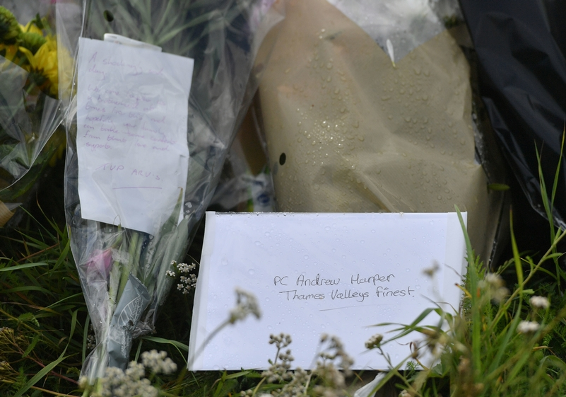 Touching tribute: To Thames Valley's finest . . . slain PC Andrew Harper