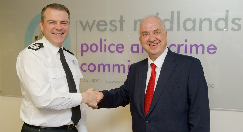 Chief Constable Dave Thompson (Left) with Police and Crime Commissioner David Jamieson (Right)