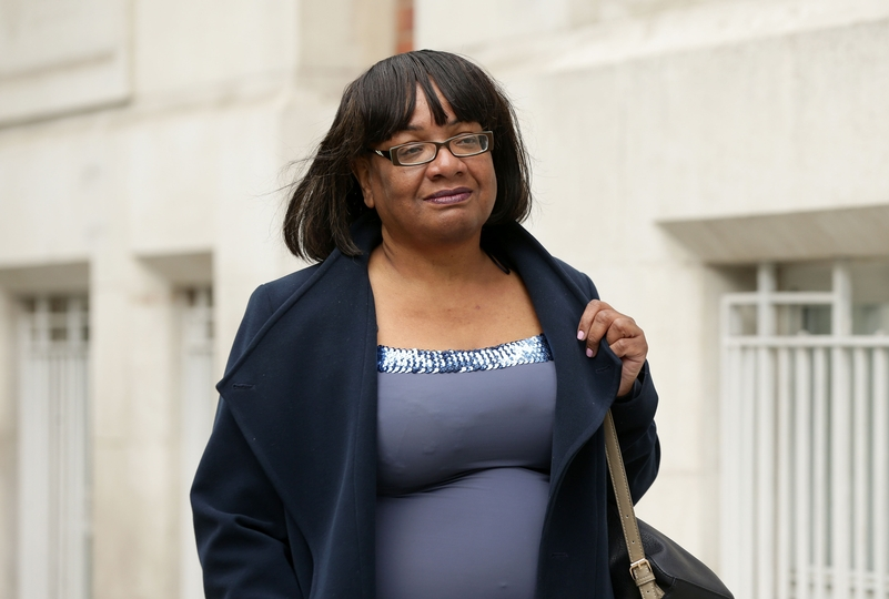 Shadow Home Secretary Diane Abbott believes officers should not be using tactical contact