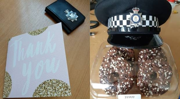 Thank you: Forces have reported gifts being presented to them following PC Andrew Harper's death
