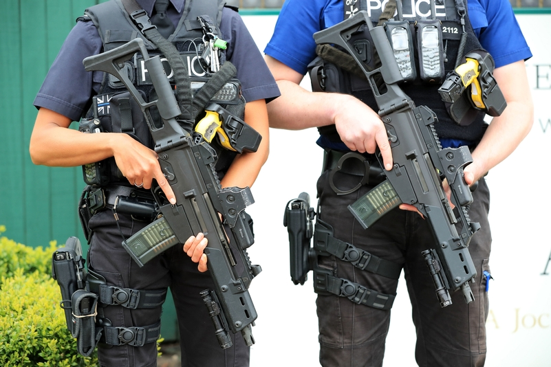 Fire power: figures from the Home Office reveal an increase in armed officers responding to more incidents