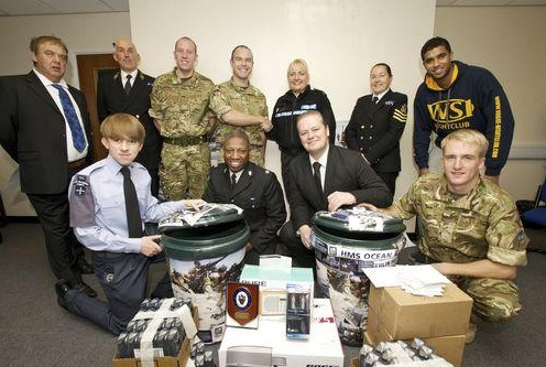 Police Applauded For Donations To Troops