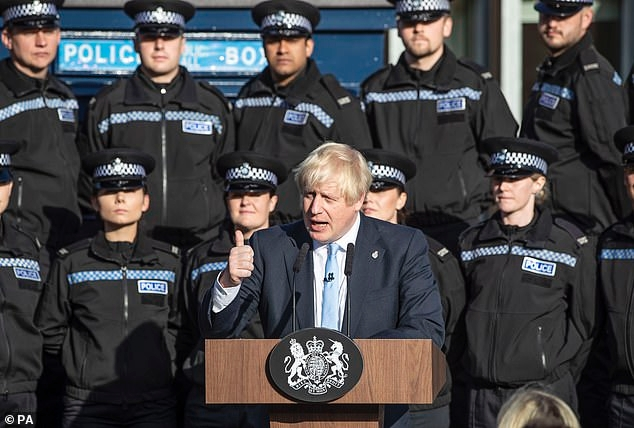 The Prime Minister gives a speech in front of West Yorkshire recruits on September 6