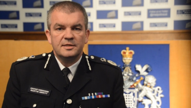 Public warning: NPCC Chair Martin Hewitt led calls for people to stay at home