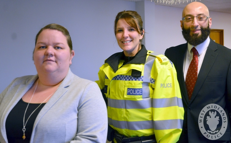 Force for good: From left, Sandwell Council's legal assistant Lisa Callaghan-Butler, PC Tracey Dudley and solicitor Mumtaz Badhur