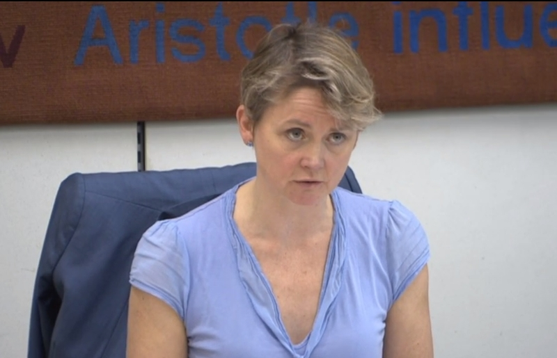 Yvette Cooper chairs the Home Affairs Committee