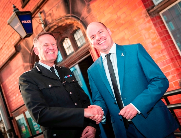 CC Martland with PCC David Keane