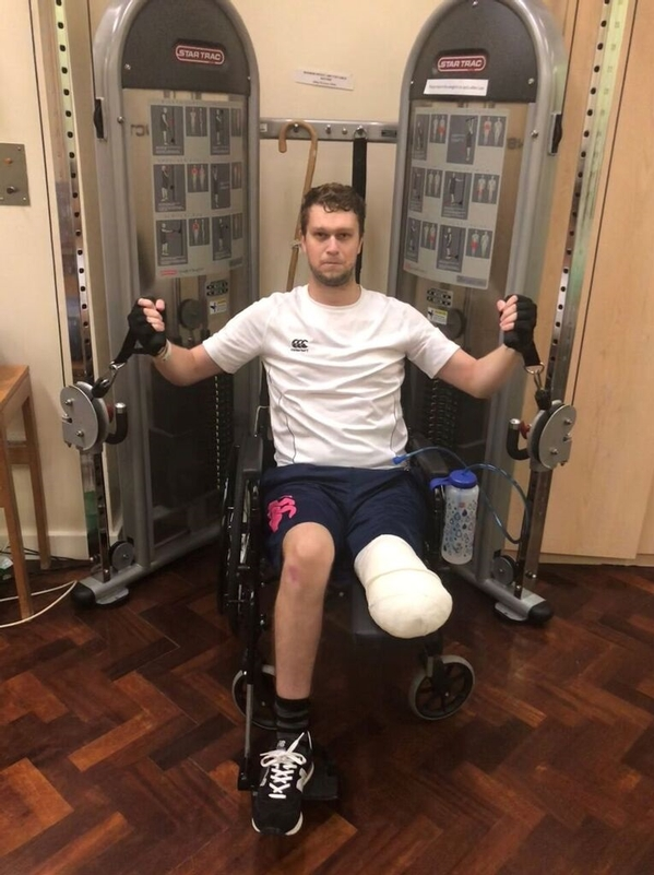 Building up strength: PC Tom Dorman back in the gym