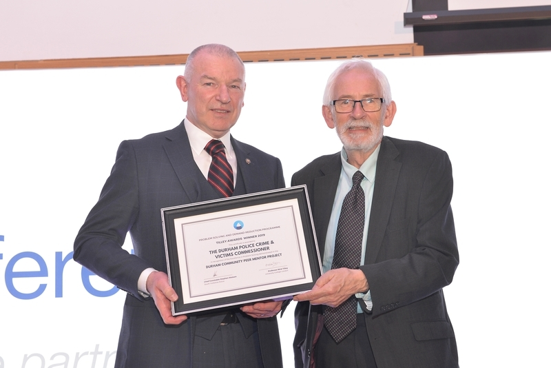 UK Tilley Awards: Community Peer Mentor scheme winner Jim Cunningham, left, with Nick Tilley