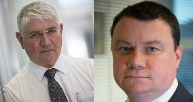 Taking the reins: Steve White, right, steps up as acting PCVC in place of Ron Hogg, left