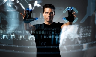 Tom Cruise in the 2002 film version of Minority Report, originally a sci-fi novel by Philip K Dick