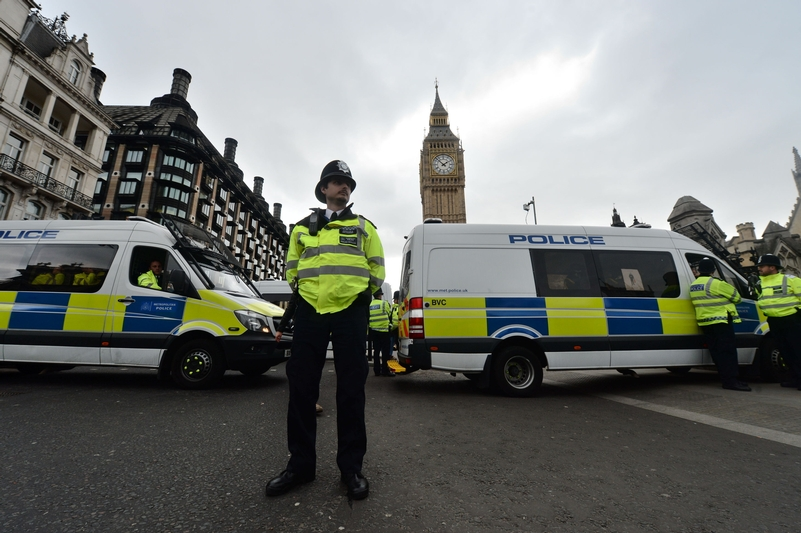 Police in Westminster after the attack in March. Photo: Press Association