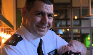 Lifesaving officer reunited with miracle baby