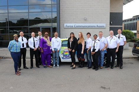 Pictured: special LGBT guests and Hertfordshire officers who attended the conference