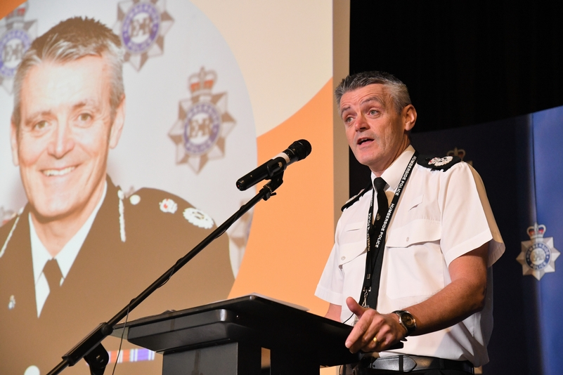 Chief Constable Lee Freeman speaking at the conference