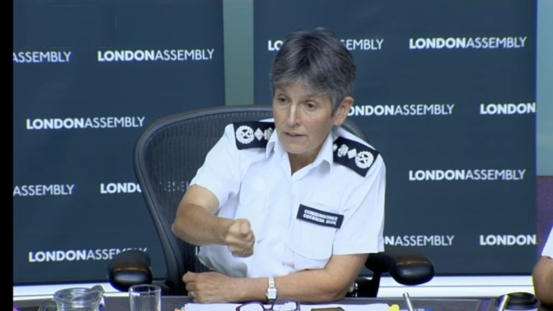Commissioner Cressida Dick at the London Assembly