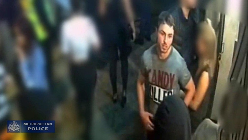 Arthur Collins on CCTV shortly after spraying acid in a nightclub which injured 14 people
