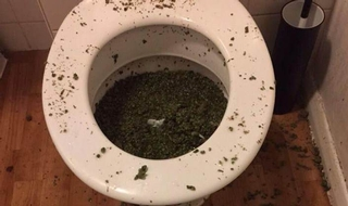 Men arrested after botched attempt to flush stash