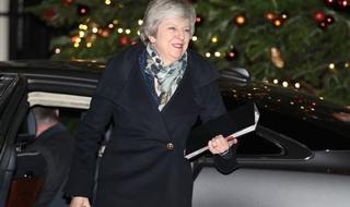Fighting on: Theresa May back in Downing Street and back to the business of running the country?