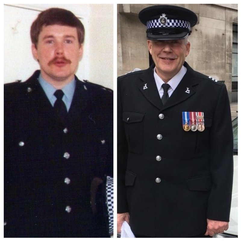 Then and now: S/Chief Insp Ron McMurdie has served with the force since August 1978