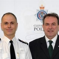 Temporary chief constable Iain Spittal with PCC Barry Coppinger
