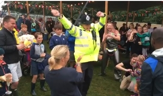 Special Constable Jason Cox throwing some shapes