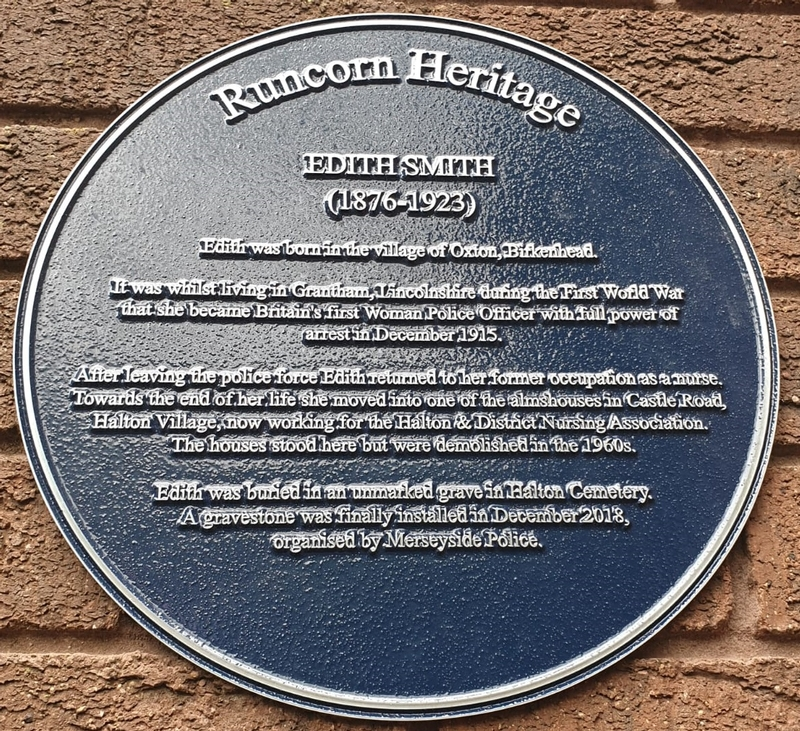 Plaque in time: Last home of PC Edith Smith