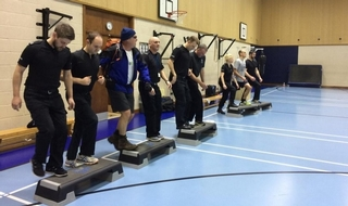 Officers and staffed took part in the challenge