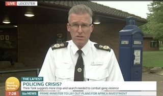 Chief under fire for televised response to police cuts