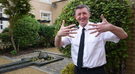 Temp Assistant Chief Constable for Avon and Somerset Police, Stephen Cullen, sporting yellow nail varnish