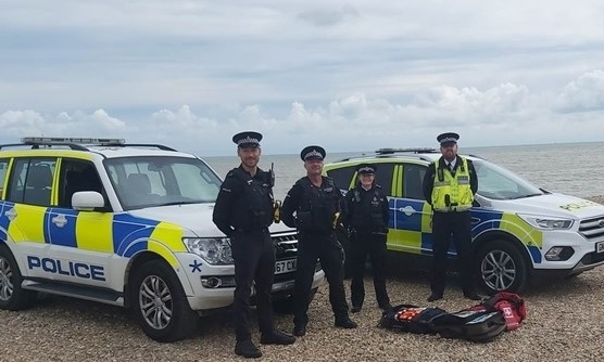 Beach patrol: CNC officers with Kent Police