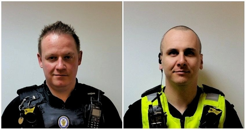 PC Lee Jones and PC Richard Meede