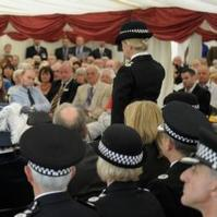Charity's memorial service for fallen officers