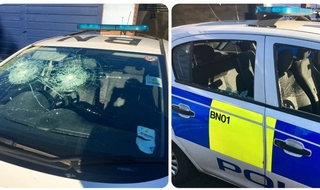 Vandals attack police car during Remembrance parade