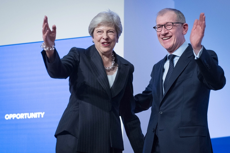 Theresa May and her husband Phillip after her conference speech in Birmingham. Photo: Stefan Rousseau/PA Wire