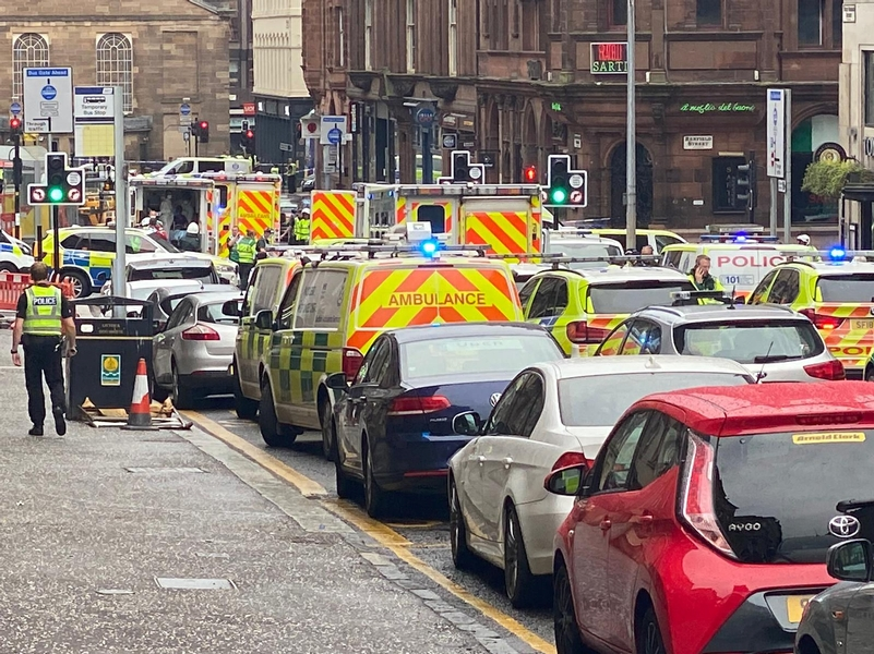 Responding: Police Scotland have confirmed an officer has been stabbed