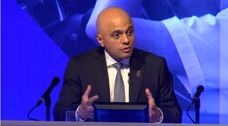 Sajid Javid at the Police Federation Conference
