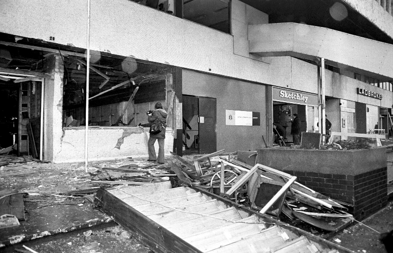 Aftermath: Fatal bomb attack on the Mulberry Bush pub in Birmingham