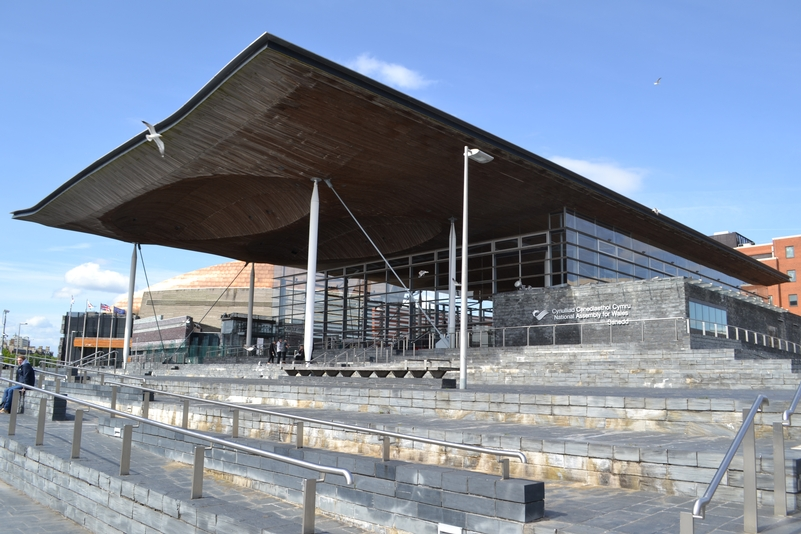 The Welsh Assembly in Cardiff Bay