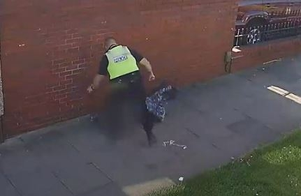 Screenshot from CCTV footage of one incident