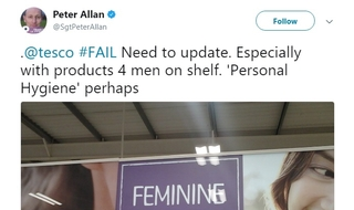 Sergeant ridiculed for asking supermarket to use gender-neutral tampon sign