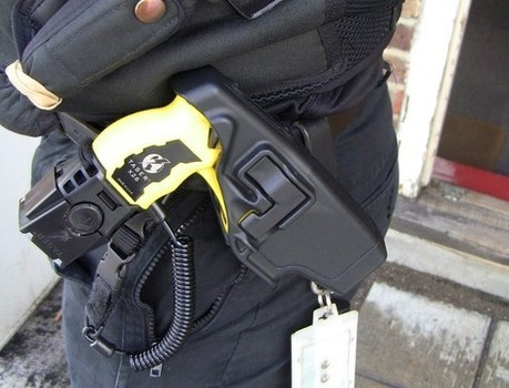 Officer suspended following Taser threat