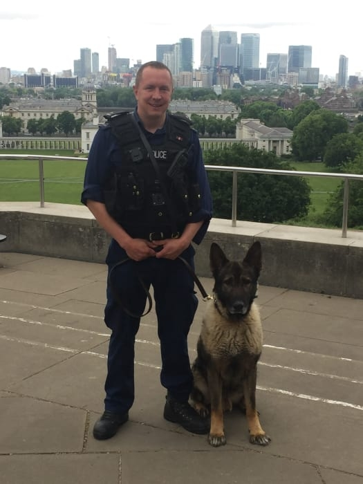 PC Neil Dobson and Monty