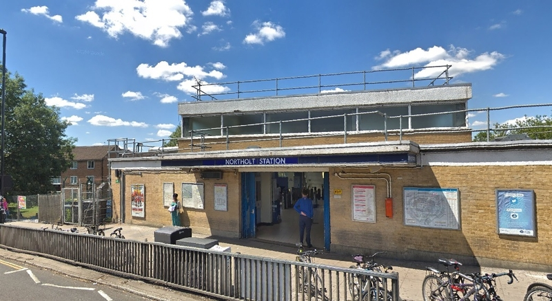 Northolt Station, where the incident took place