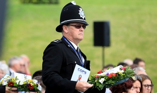 Hundreds honour fallen officers at service of remembrance