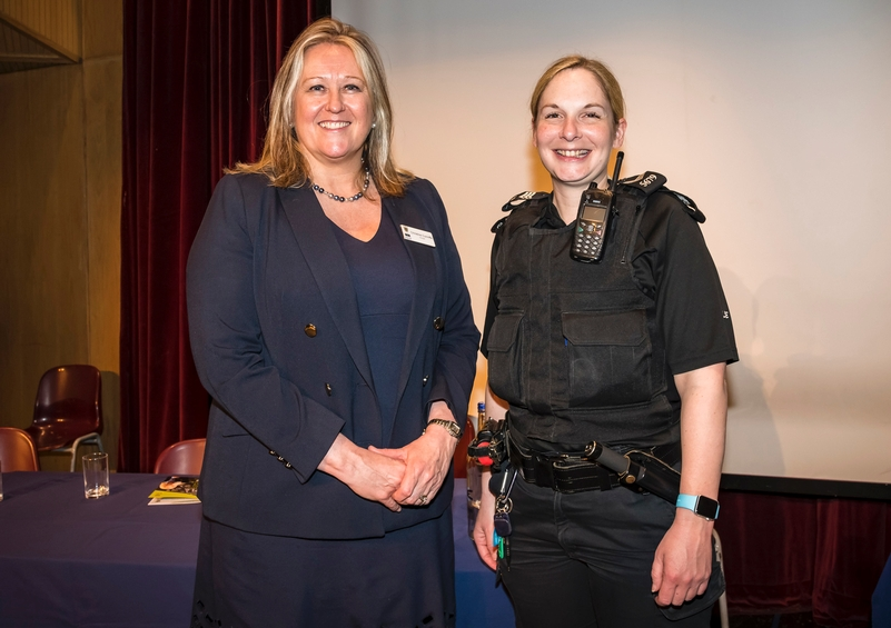 Joint force: School lead Christine Cunniffe, left, and Sgt Cassandra Oswald