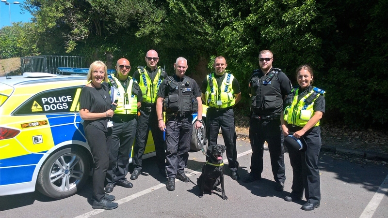 Goodbye to all that: PC Jeannine Waller, far left, with her South Yorkshire colleagues