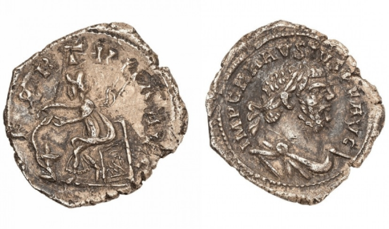 Under the hammer: Roman coin with a guide price of £10,000