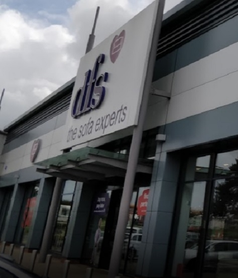 Scene of collision: DFS store at Longford Island, Cannock