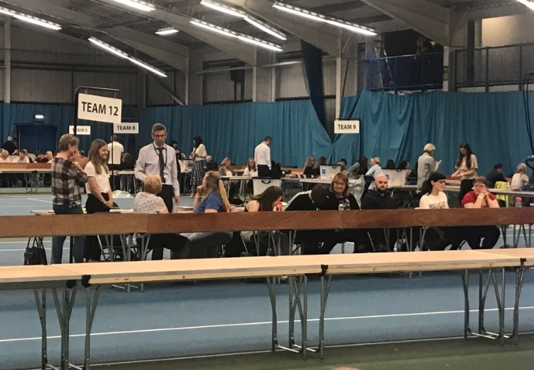 Counting votes: The results of yesterday's by-election will be known later today